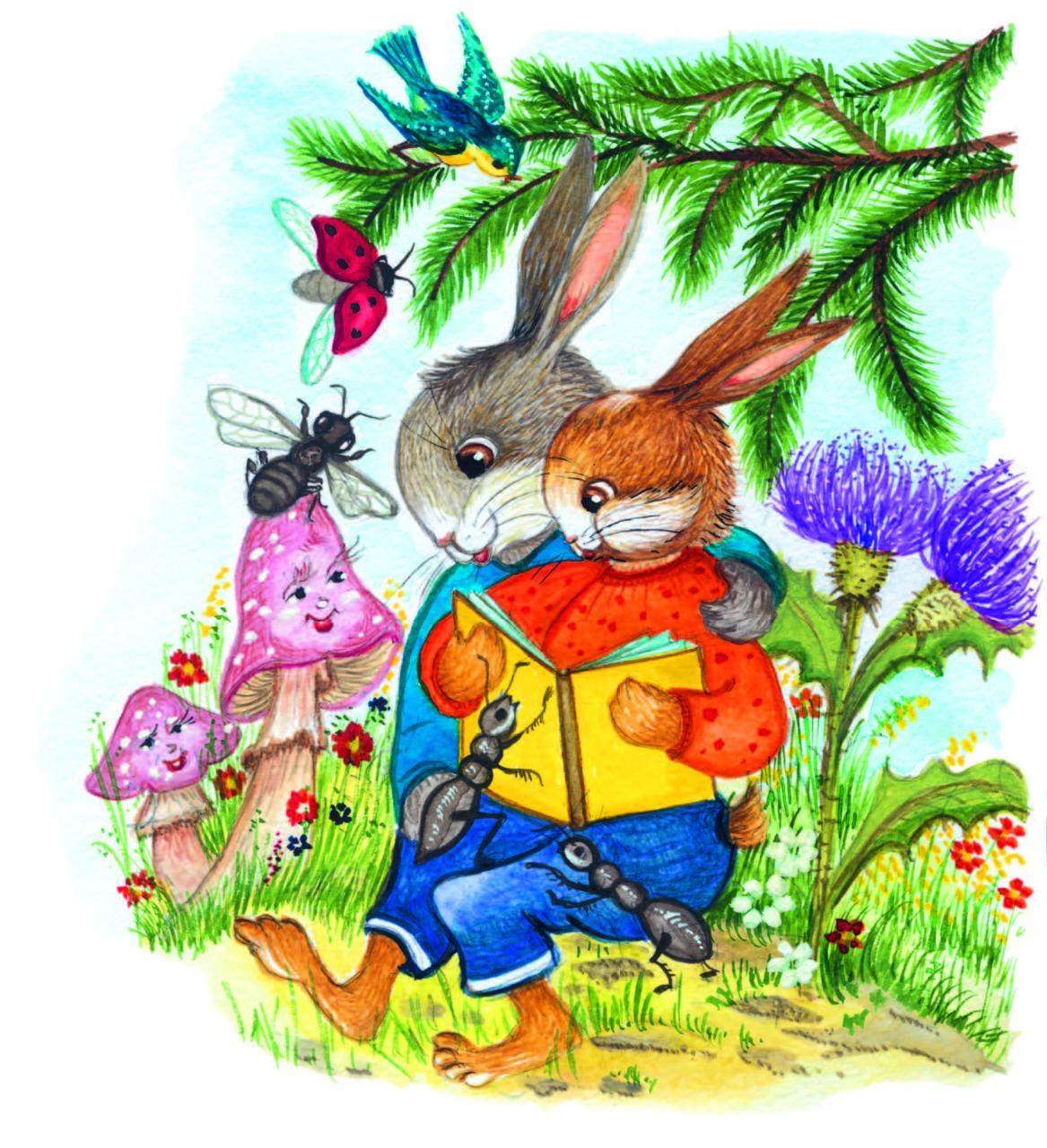 """илюстрация зайчета, програмна система """"дете със златно сърчице"""""""